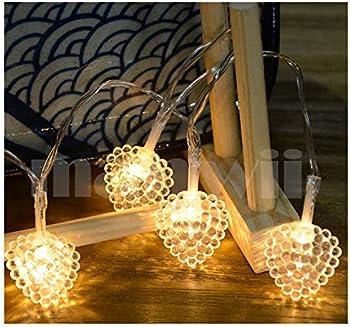 10-Feet Upstone Heart-Shaped Waterproof 30-LED String Lights