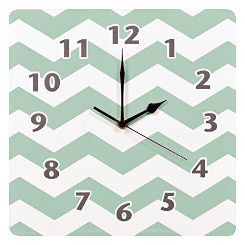 Trend Lab Chevron Clock Green