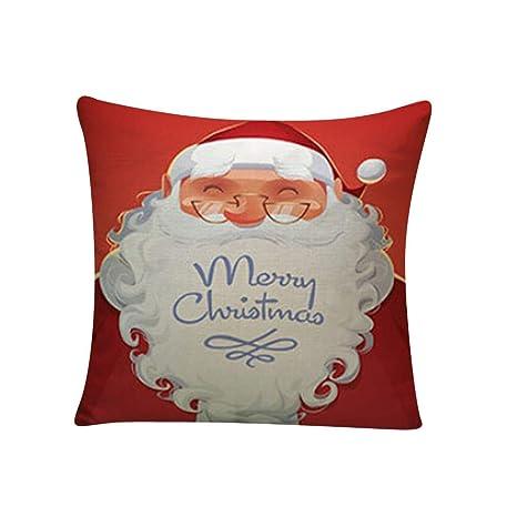 Fundas Navideñas para Cojines Adorno para Fiesta de Navidad Alces de Navidad Que teñen Sofá Cama