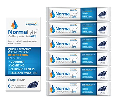 (NormaLyte Oral Rehydration Salts, Grape, 6 Pk (Yields 500mL per pack))