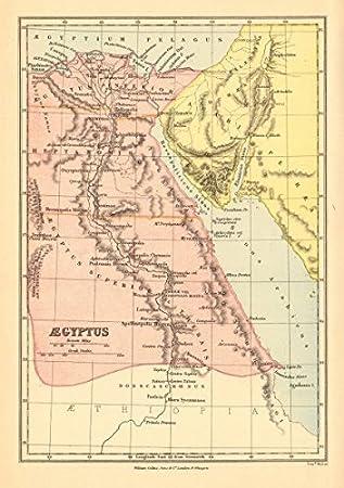 Amazoncom ANCIENT EGYPT Aegyptus BARTHOLOMEW Old Map - Antique looking maps
