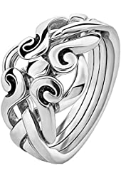 Sterling Silver 4ANS Puzzle Ring