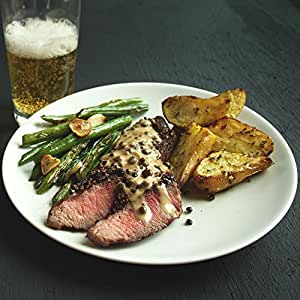 Steak Au Poivre with Roasted Rosemary Potatoes and Green Beans by Chef'd Partner Men's Health (Dinner for 2)