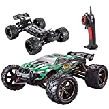 RC Car, Remote Race Car Monster Truck S912 High Speed Off-Road 33+MPH 1/12 Scale Full Proportional 2.4Ghz 2WD (Color: Green)