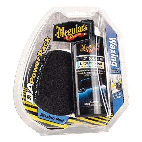 Meguiar's G3503 DA (Dual Action) Waxing Power Pack (Meguiars G18216 Ultimate Liquid Wax 16 Oz)