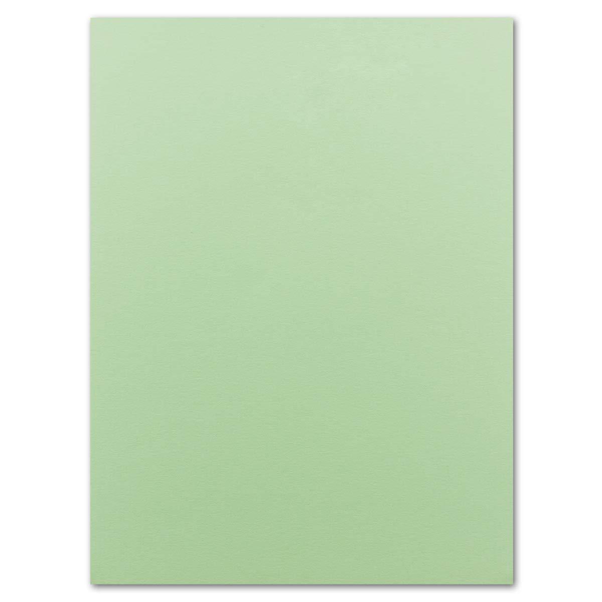 50 Blatt Ton-Karton DIN A4 - Farbe: Olivgrün -Ton-Papier 160 g/m² Gerippte Oberfläche - Ton-Zeichen-Papier Bastel-Papier Bastel-Karton - Glüxx-Agent Glüxx-Agent