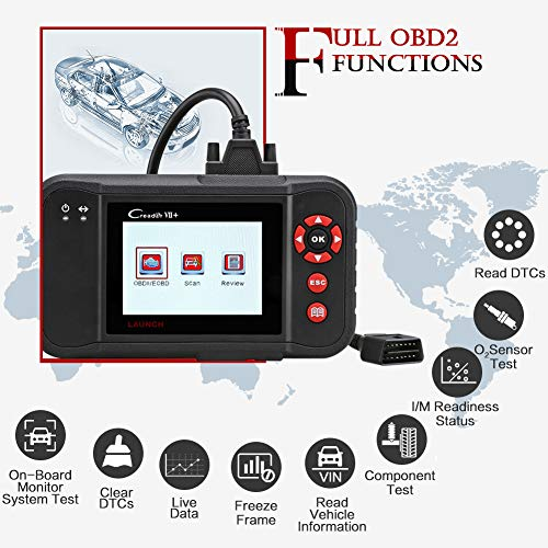 LAUNCH Black Creader VII+ OBD2 Scanner ABS SRS Transmission and Engine Code Reader Diagnostic Scan TPMS Activation Tool Gift by LAUNCH (Image #6)