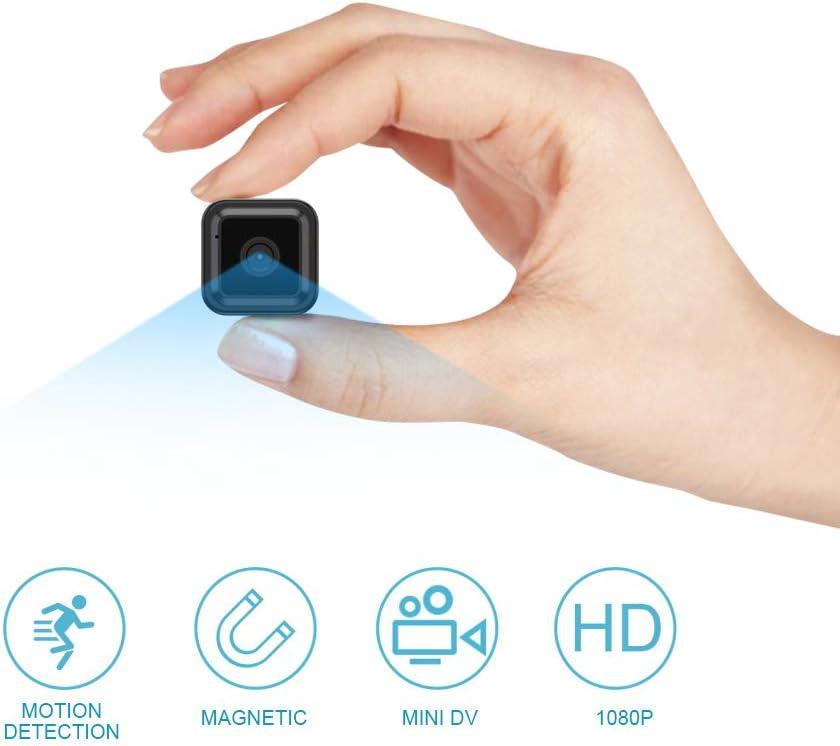 Mini Camara Espia Oculta Videocámara, OWSOO 1080P HD WiFi Cámara 2.4Ghz Vigilancia Portátil , Sensor Movimiento, Visión Nocturna, Camaras de Seguridad Inalambrica Pequeña Interior/Exterior