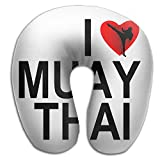 U-Shaped Neck Pillow I Love Muay Thai Pillows Soft Convertible Portable Multifunctional For Travel Reading And Sleeping