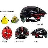 Anharluka Road/Mountain Bike Helmet with Detachable Magnetic Shield Visor Goggles Multi-sport Professional Cycling Helmet for Adult Sleek