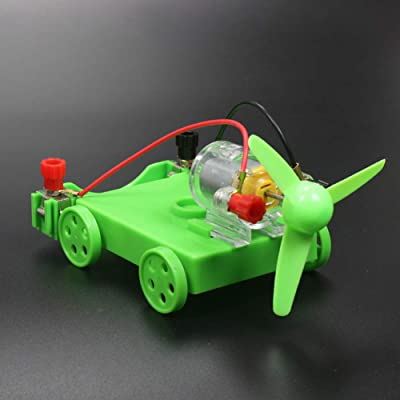 ekqw015l [Kid Toy DIY Assembly Electric Car Wind Power Experiment Physics Learning Student Toy Physics Learning Student Supply Interactive Development Educational Toys for Kids: Home & Kitchen
