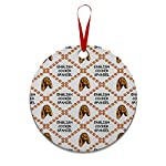 Style In Print Custom Holiday Christmas Ornament English Cocker Spaniel Dog Paws Aluminum Round Shape Design Only 6