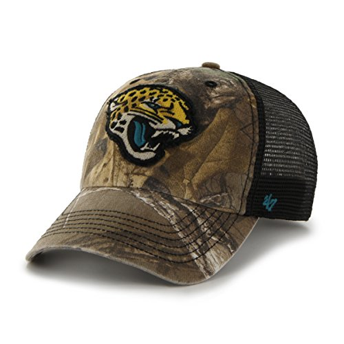 Jacksonville Jaguars Camo (NFL Jacksonville Jaguars '47 Huntsman Closer Camo Mesh Stretch Fit Hat, One Size, Realtree Camouflage)