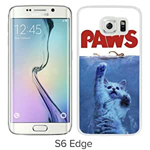 Unique Samsung Galaxy S6 Edge Skin Case ,Fashionable And Durable Designed Phone Case With Jaws Paws White Samsung Galaxy S6 Edge Screen Cover Case