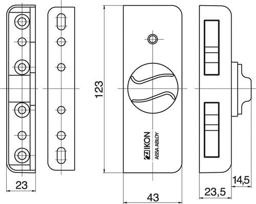 IKON 9M04 Braun Kralltec Fenstersicherung Mit Drehknauf