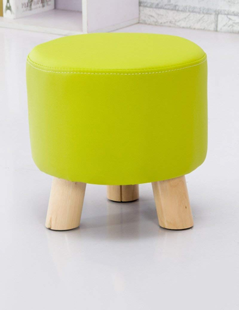 QTQZ Brisk- Fashion Small Round Stool Creative Coffee Table Chair Kids Stool Simple Living Room Home Nail Sitting Pier Sofa Stool (Color Optional) (Color: 6)