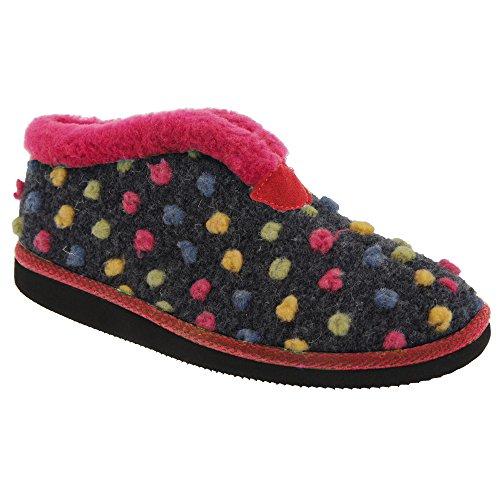 Zapatillas de estar por casa modelo Tilly estilo botín para mujer Azul