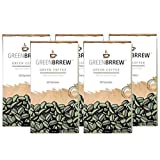 Greenbrrew Healthy 100% Natural Instant Coffee - Manages Blood Sugar Levels, Catalyst for Weight Loss, Reduces Blood Pressure Levels and Protects The Heart - Each Pack 60g (20 Sachets PP) - Pack of 5