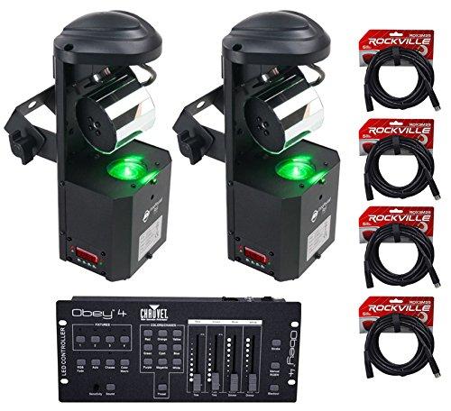 (2) American DJ ADJ Inno Pocket Roll Mirror Scanner Lights+DMX - Dmx Professional Scanner