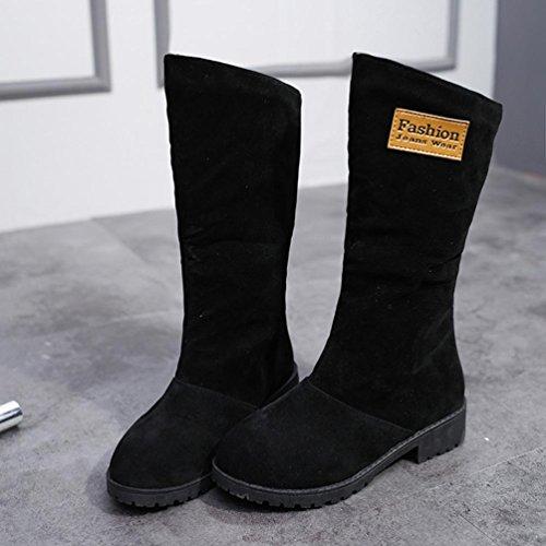 Kaicran Damer Boots För Kvinnor Låg Kil Biker Fotled Trim Platt Ankel Varma Martin Stövlar Skor Svarta
