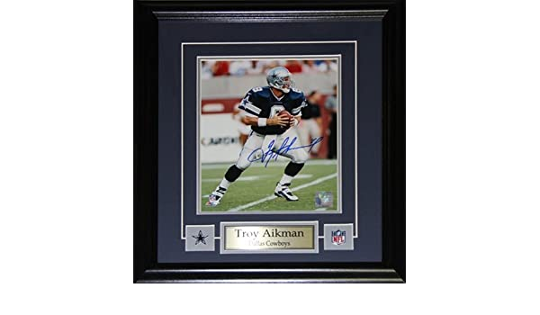 Midway Memorabilia Troy Aikman Dallas Cowboys Signed 8X10 Frame at Amazon s  Sports Collectibles Store 8100bcec4