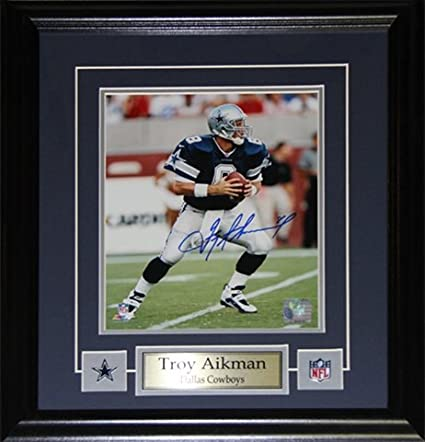 Image Unavailable. Image not available for. Color  Midway Memorabilia Troy  Aikman Dallas Cowboys Signed 8X10 Frame c56421947