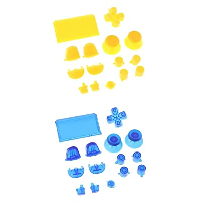 Almencla 2X Kits De Botones Completos DPad Trigger LT RT LB RB para PS4 Pro JDS-040 Controller