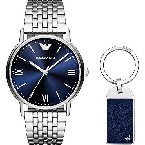 Emporio Armani Men's 'Dress' Quartz Stainless Steel Casual Watch, Color:Silver-Toned (Model: AR80010)
