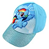 Hasbro Little Girls' My Little Pony Rainbow Dash 3D Pop Baseball Cap, Blue, Age 4-7