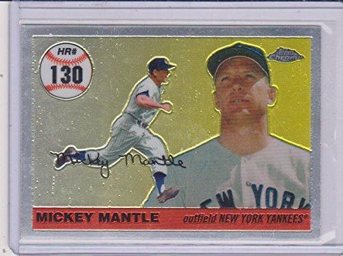 2007 Topps Chrome Mickey Mantle Yankees Insert Baseball Card #MHRR130