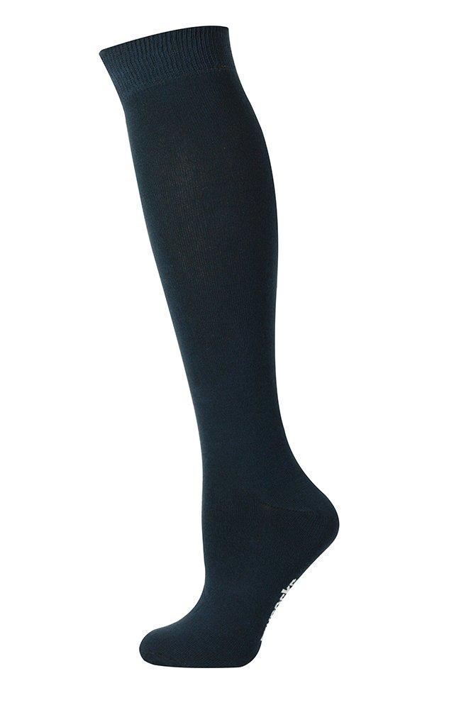 Mysocks Unisex Knee High Long Socks Plain Navy