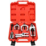 6-Piece Front End Service Tool Set, Ball Joint Separator Pitman Arm Tie Rod Puller Tool Kit