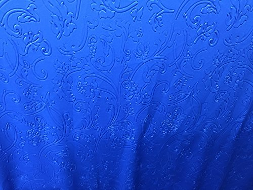 Fine scuba Satin Royal , Blue Fabric with embossed Design 3 Yds~ 60'' Blue Stretch Satin