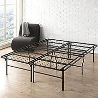 Best Price Mattress Full Bed Frame - 18 Inch Metal Platform Beds w/ Heavy Duty Steel Slat Mattress Foundation (No Box Spring Needed), Black