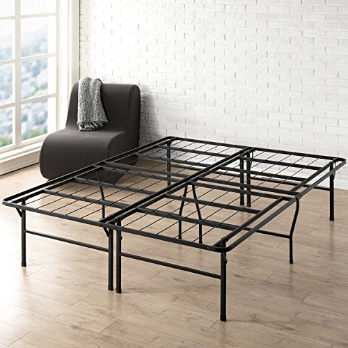Best Price Mattress Queen Bed Frame - 18 Inch Metal Platform Beds w/Heavy Duty Steel Slat Mattress Foundation (No Box Spring Needed), Black ()
