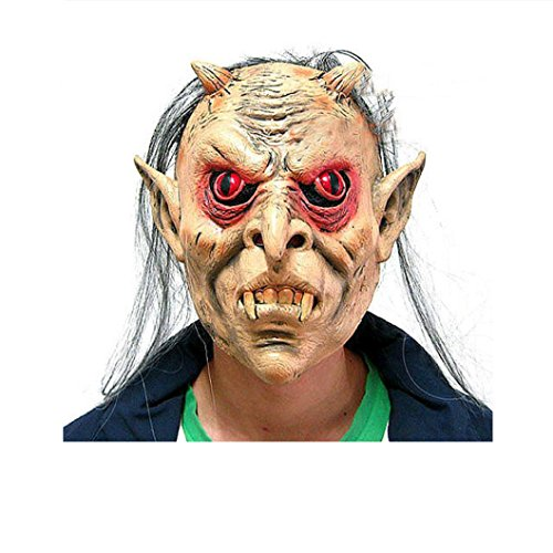 Halloween Mask! Elevin(TM)2016 New Bloody Face Off Horror Creepy Scary Halloween Party Costume Theme Ball Mask (F)