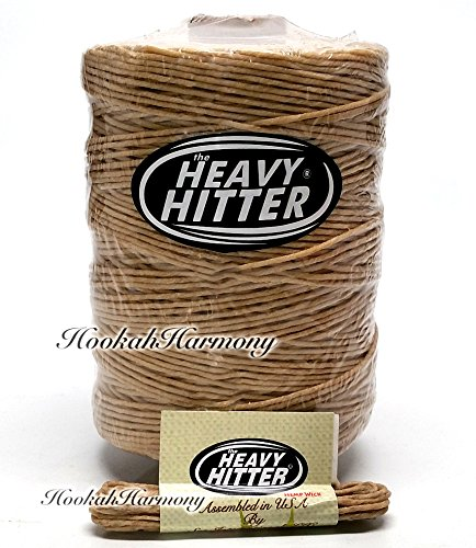 The Heavy Hitter Organic Hemp Wick Bees Wax 800 Ft Foot + 8 Feet Travel Rope Bee B Twine Spool Line Raw Beeswax Ball Spool Natural Lighter 700 Made In USA