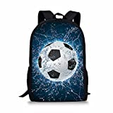 Coloranimal 3D Football Printing Children School Backpacks Boys Blue Bookbags