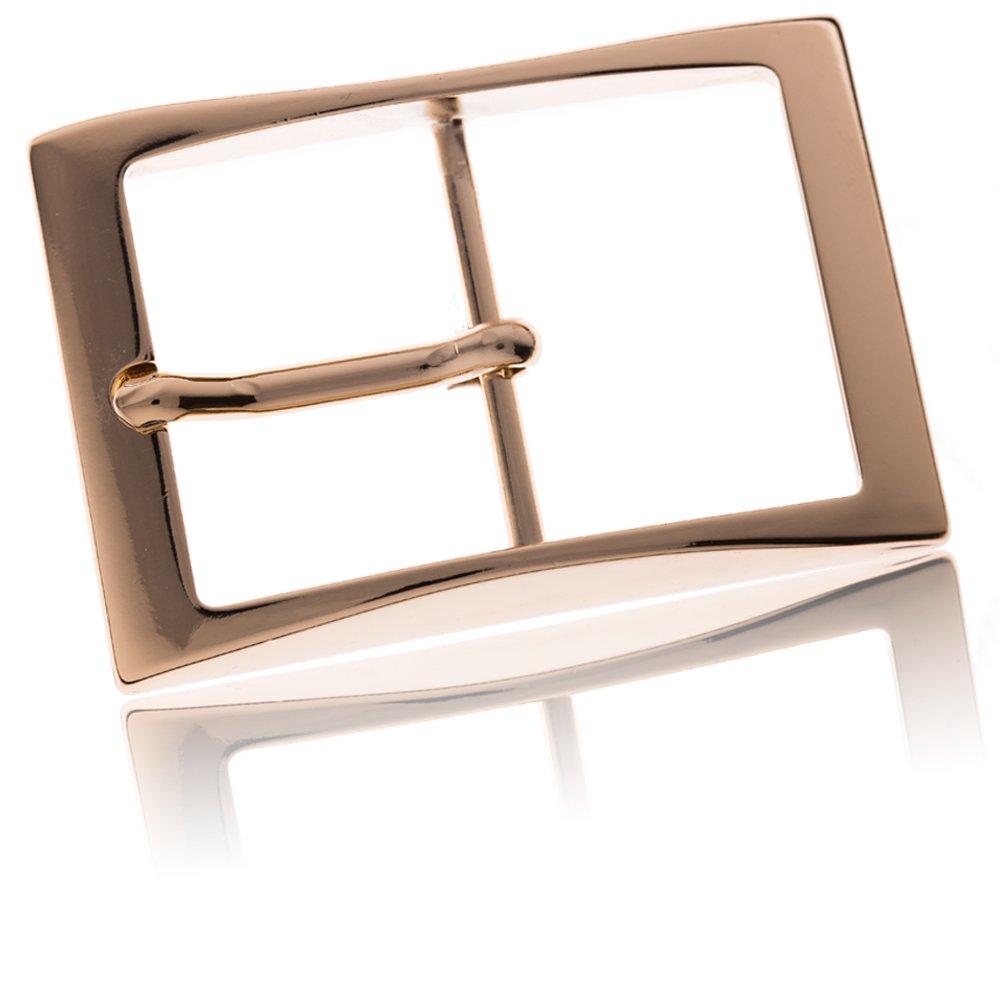 Buckle Edges Goldfarben Poliert Dornschliesse F/ür G/ürtel Mit 4cm Breite FREDERIC HERMANO G/ürtelschnalle Buckle 40mm Metall Gold Poliert