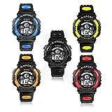 YANG-YI Waterproof Digital LED Quartz Alarm Date Sports Silicone Wrist Watch Men
