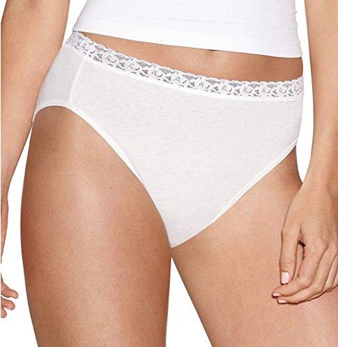 Hanes Elegance Nylon Brief (Hanes Women's Elegance Nylon Hi-Cut Panties 5-Pack 6)