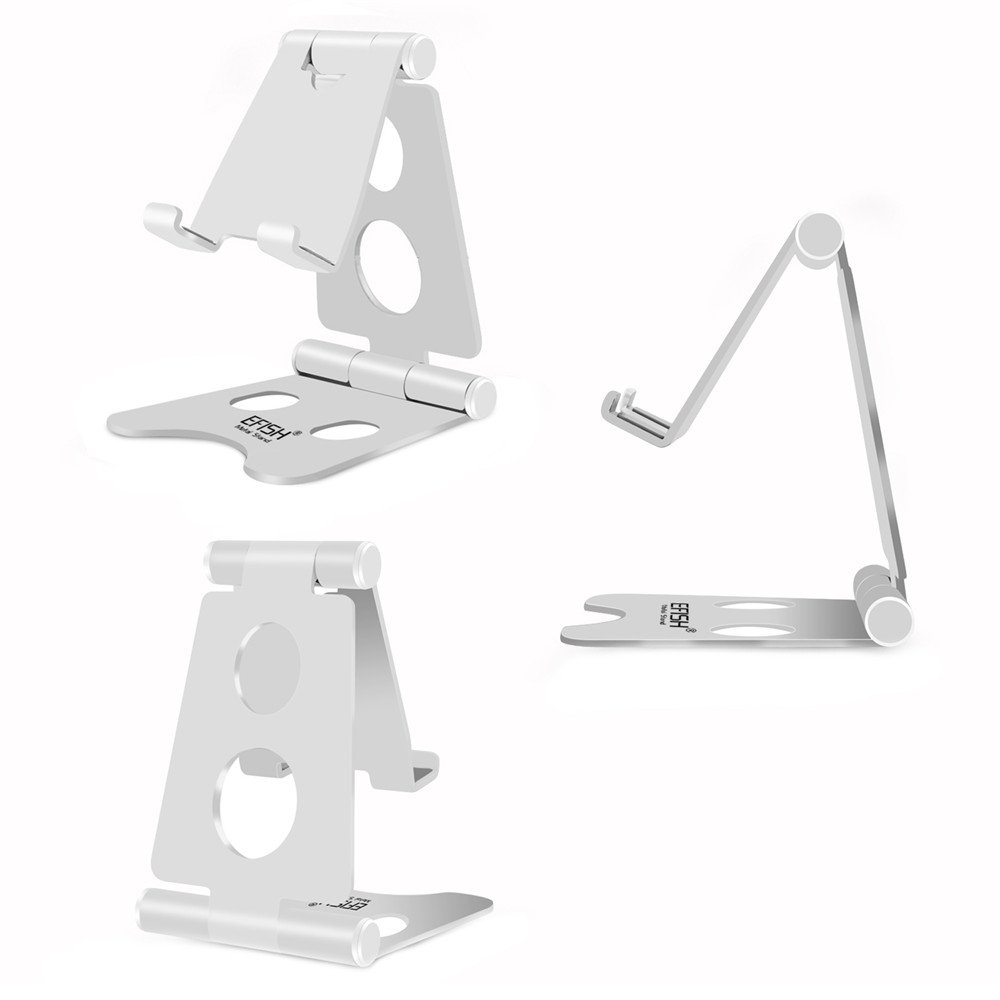 EFISH 270 Degree Dual Shaft Adjustable Metal Mobile Phone Stand - Silver