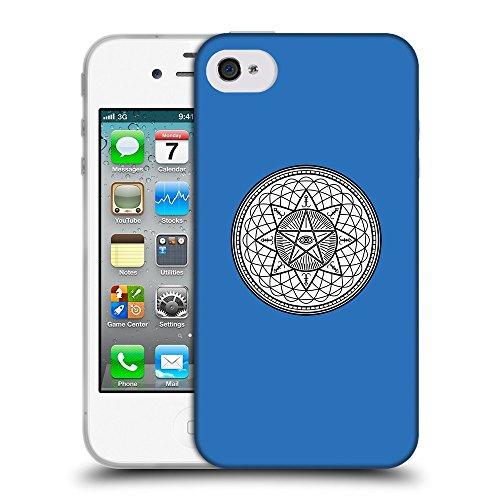 GoGoMobile Coque de Protection TPU Silicone Case pour // Q09710608 Mystique occulte 20 Azur // Apple iPhone 4 4S 4G