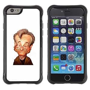 Suave TPU GEL Carcasa Funda Silicona Blando Estuche Caso de protección (para) Apple Iphone 6 / CECELL Phone case / / robin actor comedian stand up caricature /