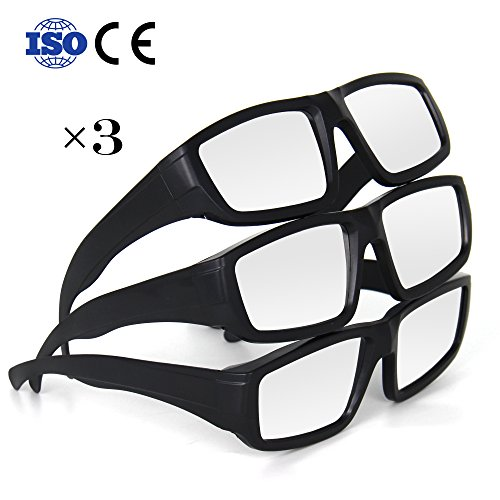 TOLOCO Solar Eclipse Glasses,CE and ISO Certified Safe Solar Shades Filter for Solar Eclipse Viewing (3-Black)