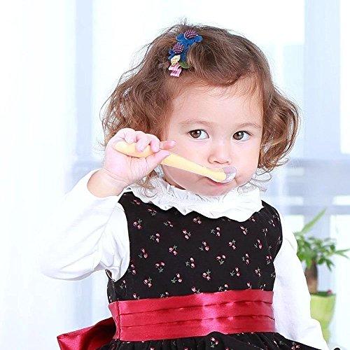 OneBelief [Baby Weaning Feeding Spoon] [Coffee Milk Stirring Stick] [Sugar Salt Seasoning Teaspoons] BPA Free Safe Soft Silicone Spoons(5 Pack(5 Colors))