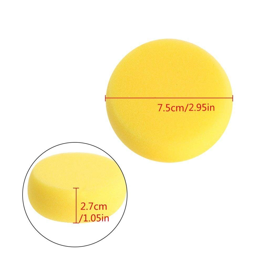 Amrka Round Sponge Brushes For Painting Art Drawing Craft Clay Pottery Sculpture Cleaning Tool (5Pcs) by Amrka (Image #6)