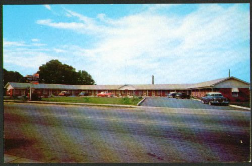 Georgetown Motel & Restaurant SC postcard 1950s