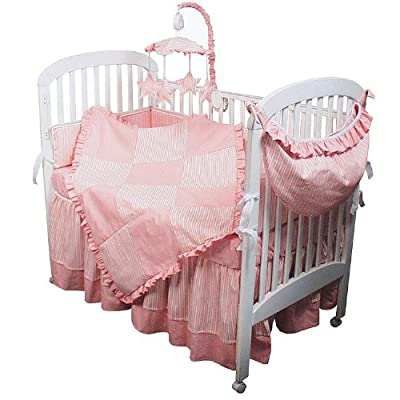 Hoohobbers 4-Piece Crib Bedding, Pink Sherbert from Hoohobbers