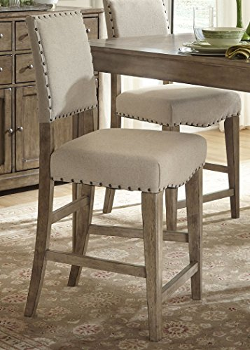 Liberty Furniture 645-B650124 Weatherford Dining Upholstered Counter Chair, 19